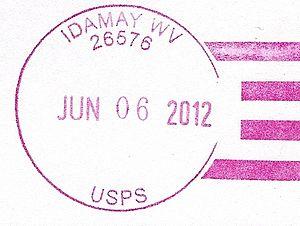 Idamay, West Virginia - Image: Idamay WV Postmark