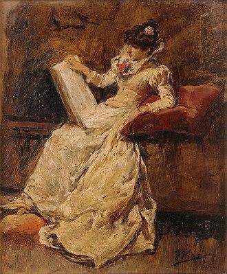 Ignacio Pinazo Camarlench - Image: Ignacio Pinazo Camarlench Figura femenina sentada