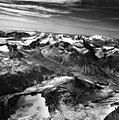 Ikagluik Glacier, mountain glacier terminus surrounded by arete peaks, August 26, 1964 (GLACIERS 7043).jpg