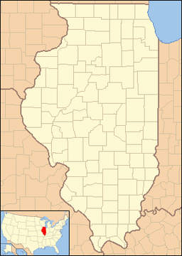 Location of Taylorville in Illinois