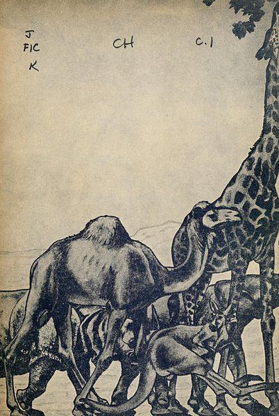 File:Illustration 2 at inside cover of Just So Stories (c1912).jpg