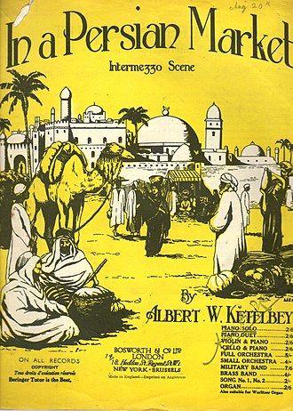 In a Persian Market - Cover of the sheet music