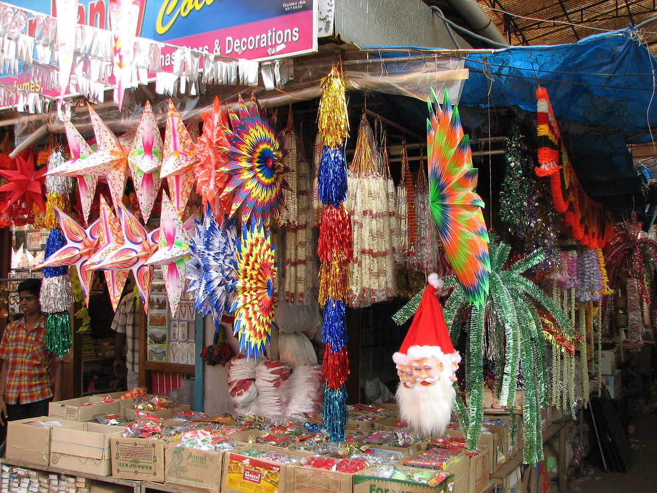 File India Kerala 071 Cochin Xmas Decorations For