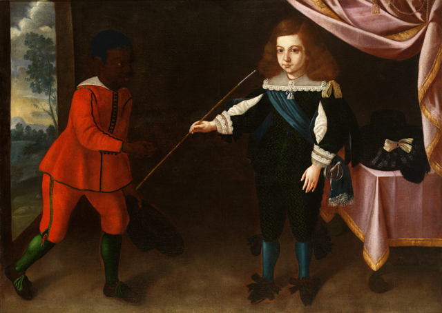 Infante Afonso of Portugal and a black page (c. 1653), by José de Avelar Rebelo. Currently in Museu de Évora, Portugal.