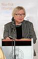 Inger Christensen laser ur ett av sina verk vid lanseringen av Nordisk litteratur til tjeneste pa Sorte diamant i Kopenhamn 2008-03-05.jpg