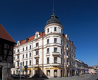 Inowroclaw is famous for its large salt spa and resort centre Inowroclaw hotel Bast.jpg