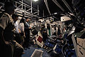 Interns from the South Korean Parliament walk through one of the simulated bomb-damaged berthing areas on the destroyer simulator USS Trayer (BST 21) at Recruit Training Command in Great Lakes, Ill., July 30 120730-N-IK959-006.jpg