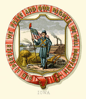Seal of Iowa - Historical coat of arms (1876)