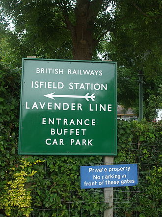 Isfield railway station - Signage