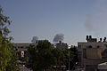 Israeli Air Forces bombing over Ansar site. 7.8.2014.jpg