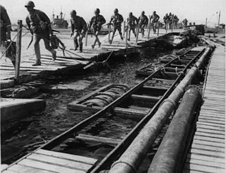 Western Desert Campaign - Italian marines disembarking in Tobruk harbour July 1942