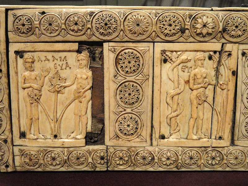 File:Ivory Box with Scenes of Adam and Eve, 1000-1100s AD, Byzantine, Constantinople, ivory, wood - Cleveland Museum of Art - DSC08378.JPG