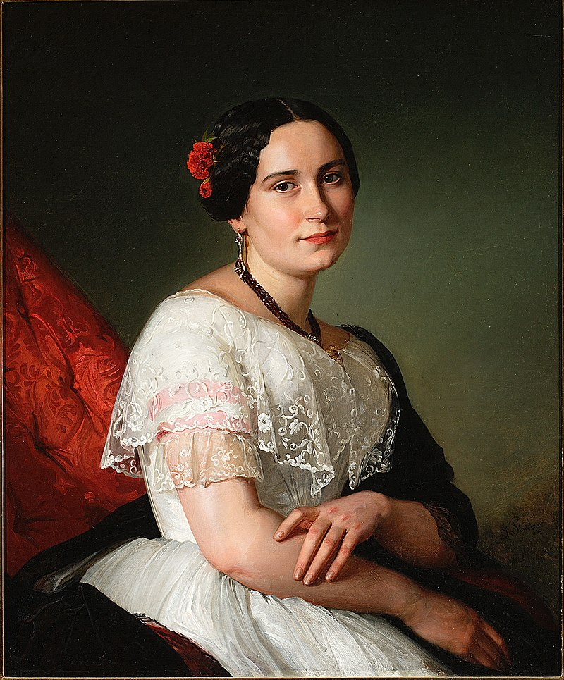 Józef Simmler - Portrait of Katarzyna Jahn, artist's sister - MP 5360 - National Museum in Warsaw.jpg