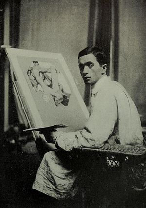 J. C. Leyendecker - Leyendecker in his studio