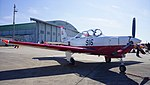 JASDF T-7(46-5916) right front view at Komaki Air Base February 23, 2014 02.jpg