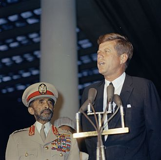 Ethiopia–United States relations - President Kennedy and Haile Selassie in 1963