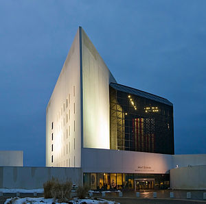 The John F Kennedy Library in Boston MA
