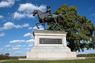 Henry Kirke Bush-Brown - Monument to General John F. Reynolds on the Gettysburg Battlefield; the horse has two feet raised, presenting problems of balance and construction.