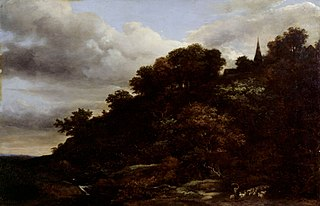 A wooded hill