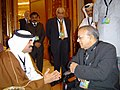 Jaipal Reddy at the bilateral meeting with the Oil Minister of Qatar, Dr Mohammed Bin Saleh Al Sada.jpg