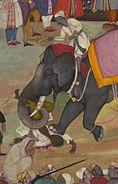 Jamal al-Din Husayn Inju Shirazi - Two Folios from the Akbarnama - Walters W684 - Detail A