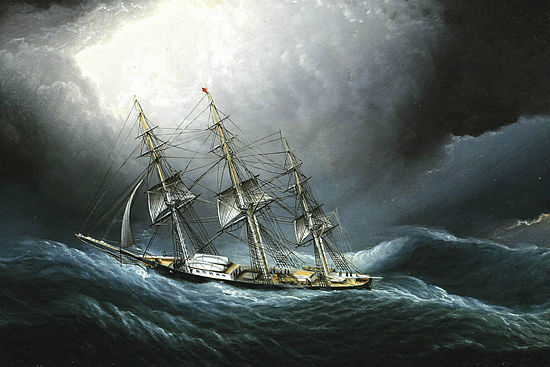 James E. Buttersworth - Clipper Ship at Cape Horn.jpg
