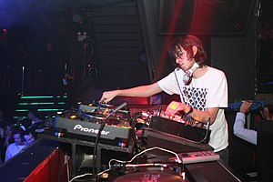 James Holden (producer) - Holden at a performance at Pacha, New York
