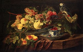 Still Life with Fruit and Parrot