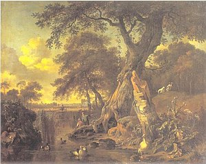 River Landscape with Fisherman and Hunter, 1671