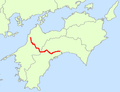 Japan National Route 33 Map.png