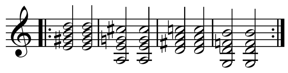 Jazz standard bridge