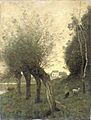 Jean-Baptiste-Camille Corot - Landschap met knotwilgen.jpg