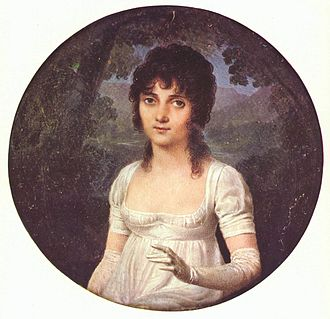 Jean-Baptiste Isabey - Miniature of Christine Boyer by Isabey