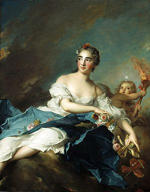 Aurora (mythology) - Image: Jean Marc Nattier, The Countess de Brac as Aurora (1741)