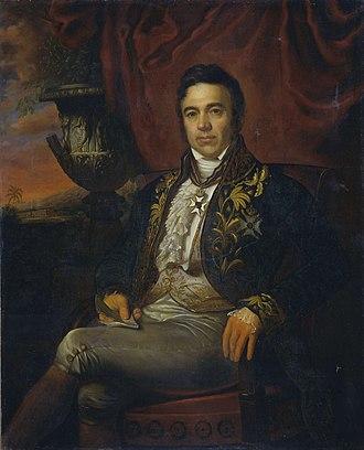 Jean Chrétien Baud - Portrait of Jean Chrétien Baud (1835) by Raden Saleh
