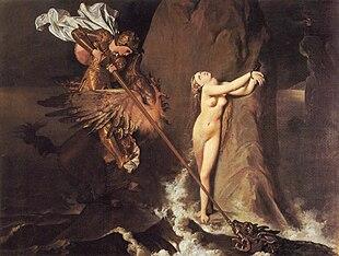 Ruggero che libera Angelica di Jean Auguste Dominique Ingres, dipinto nel 1819, raffigura una scena dell'Orlando Furioso in cui Ruggero, a cavallo di un ippogrifo, sta salvando Angelica.