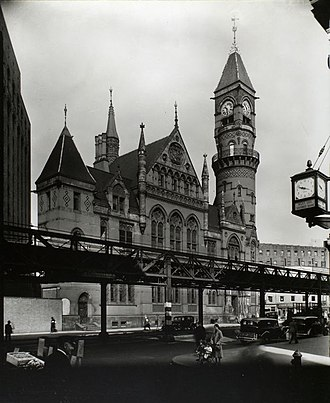 IRT Sixth Avenue Line - The Sixth Avenue El in Greenwich Village, 1935 Berenice Abbott