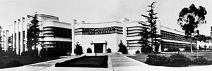 Stiles O. Clements - Jefferson High School — Los Angeles, California; Streamline Moderne style  (1935).