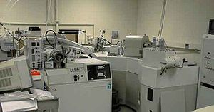 Mass-analyzed ion-kinetic-energy spectrometry - MIKES Instrument