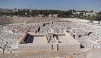 En model af Herodes tempel