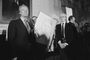 Jimmy Carter and Andy Warhol