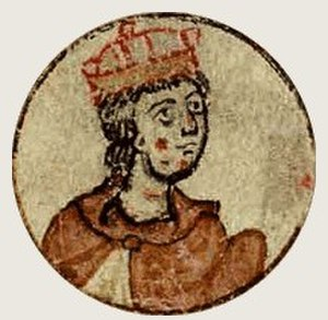 Henry (VII) of Germany - Depiction in the Chronica regia Coloniensis, 13th century