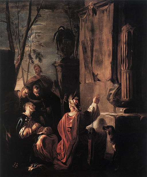 Johann Heinrich Schönfeld - Scythians at the Tomb of Ovid - WGA21058