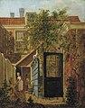 Johannes Jelgerhuis - Binnenplaats met een vrouw en een kind - 2190 (OK) - Museum Boijmans Van Beuningen.jpg