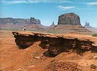 John Ford Point in Monument Valley, the location of many significant Ford Westerns from Stagecoach (1939) forward.