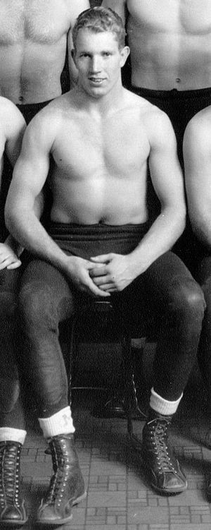 John Greene (American football) - John Greene from the 1944 Michiganensian (cropped from wrestling team portrait)