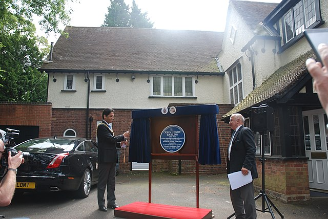 unveiling the plaque