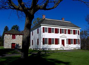 Loyalist (American Revolution) - Johnson Hall, seat of Sir John Johnson in the Mohawk Valley