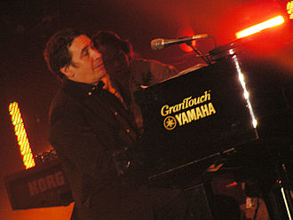 Jools Holland - Holland at the Tsunami Relief concert in Cardiff's Millennium Stadium, 22 January 2005