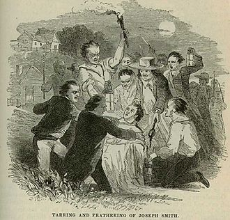 Joseph Smith - A mob tarred and feathered Smith in 1832.